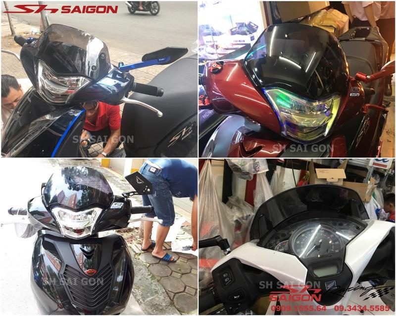 Xe Honda SH 2018 2019 gắn kính chắn gió sh kiểu sh nhập cao cấp chất lượng tại Shop SH Sài Gòn